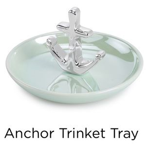 NEW Ceramic ANCHOR Trinket Jewelry TRAY Great Gift